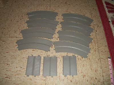 Lot of unbranded Plastic Battery Slot Car Track pieces 1970s 1960s