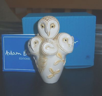ADAM BINDER Editions HOOT N' NANNY Special Moments OWLS NOS NIB COA 21/600