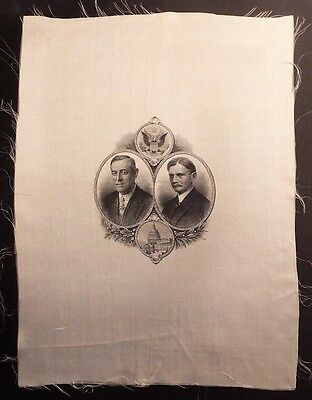 1912 WILSON - Marshall GORGEOUS Jugate Silk Presidential Campaign Political Item