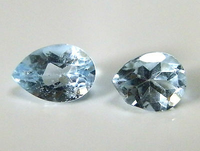 Natural earth-mined pale blue Australian Topaz gems....1.62 carat (Combined)