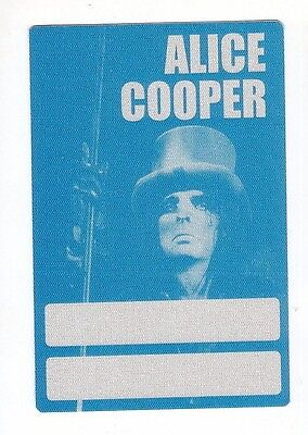 ALICE COOPER backstage pass tour SATIN cloth