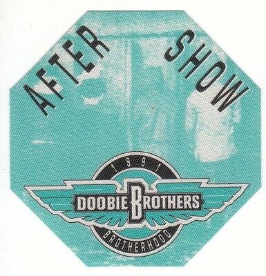 DOOBIE BROTHERS PASS backstage tour satin cloth AFTER SHOW 91 collectible