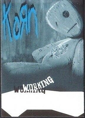 KORN backstage pass Tour Satin Cloth WORKING issues