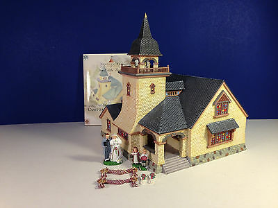 SET of 2 Dept 56 CHAPEL ON THE HILL & PERFECT WEDDING w/ bxs Seasons Bay Village