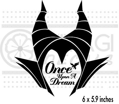 Maleficent  - Sleeping Beauty - Once upon a dream - Disney - vinyl decal sticker