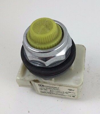 Square D Yellow Pilot Light 24-28 AC-DC 9001-KP35Y31 30MM 9001KM35LY