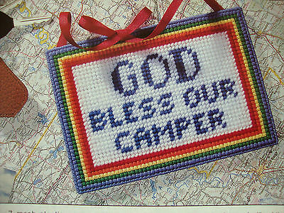 God Bless Our Camper **plastic Canvas Pattern Only**(3)