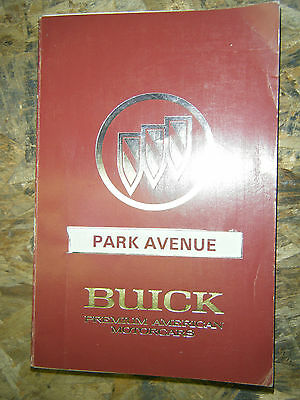 1991 Buick Park Avenue Factory Owners Manual Operators Book