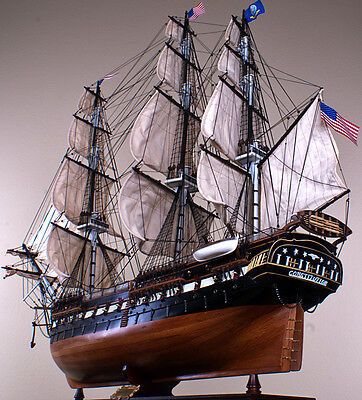 """USS CONSTITUTION 52"""" large scaled wood model ship American historic sailing boat"""