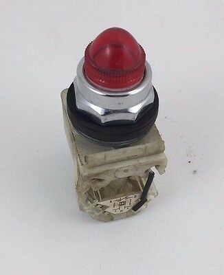 Square D Red Pilot Light 110-120VAC Light Push to Test 9001-KT1-R9 9001KT1R9