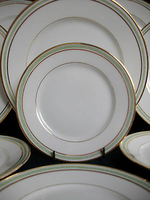 CHARLES MARTIN LIMOGES-GREEN GREEK KEY (c1891+) BREAD & BUTTER PLATE(S)- GREAT!!