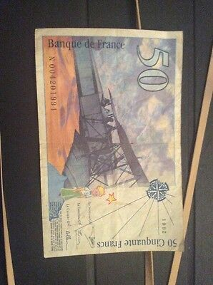 French Bank Note 50 Francs 1992