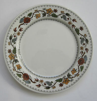 "6 Syracuse Flower & Vine Greenbrier Hotel Salad Plates Railroad C&O 8 1/8"" RARE"