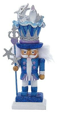 Hollywood Dolphins Wood Nutcracker Christmas Holiday 12 Inches