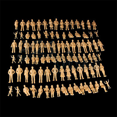 100 pcs. G Scale Architectural Human Figures Sitting Standing 1:25 1:24 Miniatur