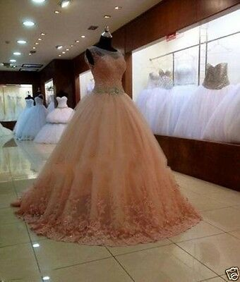 New Lace Ball Gown Quinceanera Dress Formal Prom Pageant Party Wedding Dresses