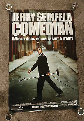 Comedian (2002) Original One Sheet Movie Poster 27x40 SS Jerry Seinfeld