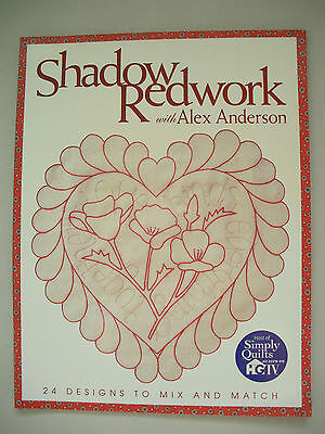 Shadow Redwork - Alex Anderson - Practical Embroidery Pattern Book