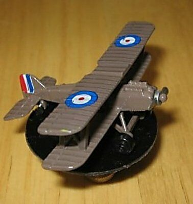 Miniature Military Diecast Biplane Lamp Finial, airplane, new