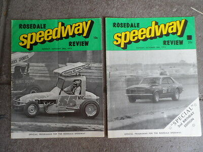 Speedway Magazine-Rosedale Speedway Review  1973--October-January