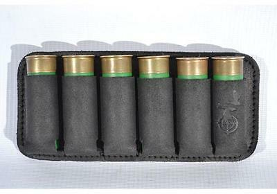 Shotgun Holder Pouch Holds 6 Shells 12 Ga Real Leather Ammo Cartridge Pouch