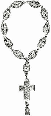 Silver 925 Rosary Beads Chaplet 11 beads Christmas Gift Russian Orthodox Christ