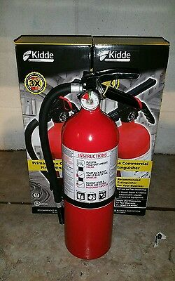 Fire Extinguisher - 5 Lb ABC Dry chemical  - Lot of 2 (  Brand New ) +Wall Mount