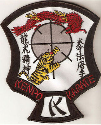 """Large Size Ed Parker American Kenpo Karate Crest Patch 6"""" X 5"""" - New"""