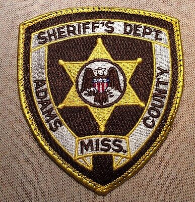 MS Adams County Mississippi Sheriff Patch