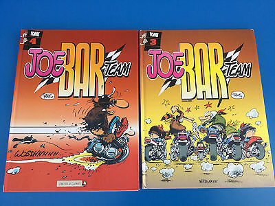 Lot de 2 bandes dessinées BD JOE BAR TEAM TOME n° 3 / 4 VENTS D'OUEST