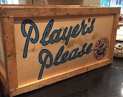 Vintage Players Navy Cut Cigarette Packing Crate Quirky Storage~Display Material