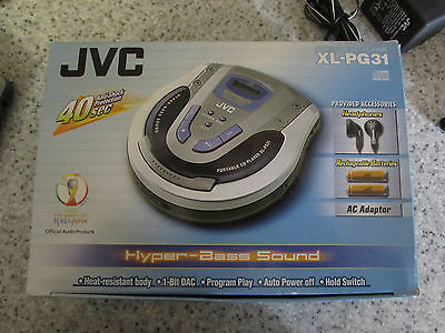 Rare Jvc Xl-Pg31 Portable Personal Cd Player With Headphones & Batteries