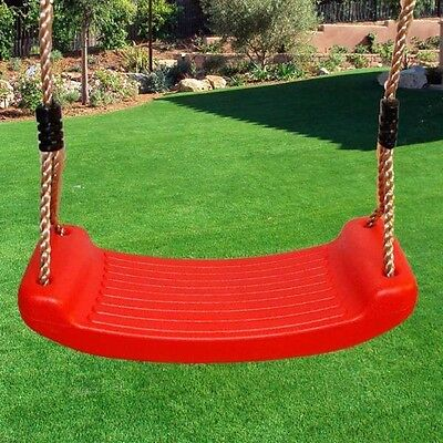 Crazy Sale! Blow moulded swing seat with adjustable ropes, play equipment RED