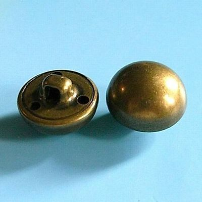 12 Brass Metal Domed Half Ball Shank Military Patriotic Sew On Buttons 15mm G115