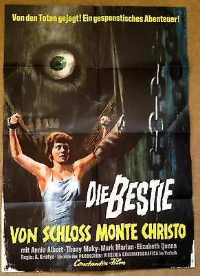 TOMB OF TORTURE (1963) Rare Original German Horror Movie Poster Good condition
