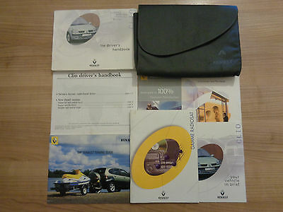 Renault Clio Owners Handbook/Manual and Wallet 01-03