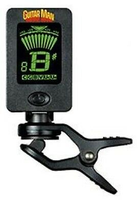 Guitar Man GM01 Clip On Tuner for Guitar, Bass, Ukulele, Brass, Woodwind, Violin