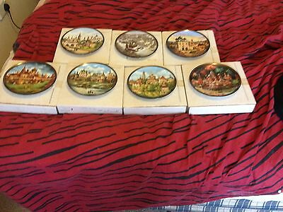 russian collectors plates  golden ring collection x7 of 8
