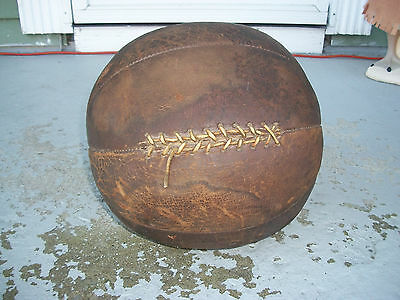 Vintage Rawlings Leather 8 Panel Laced Medicine Weighted Ball Training L@@k