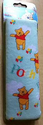 BNWT New Disney Winnie the Pooh Car Seat Belt Pad - Blue - Easy to Fit Washable