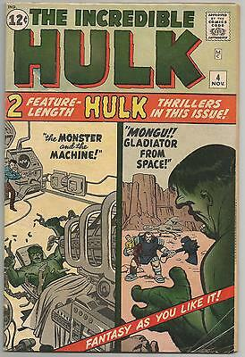 The Incredible Hulk # 4 Vol 1 - lovely copy 4.5 to 6.0 - classic silver age!