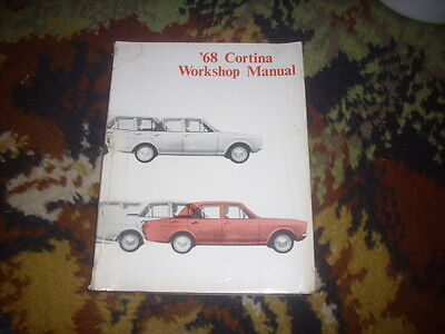 Genuine Ford Cortina Mk2 Workshop  Manual Dated 1968