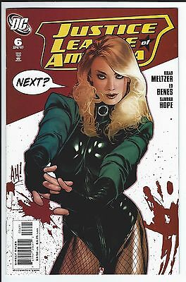 Justice League Of America #6: Nm Adam Hughes Black Canary Variant Cover
