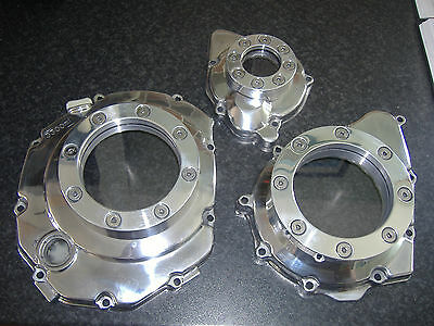 Window Clutch/engine Covers For Bandit/gsxr Full Set Of 3 Streetfighter, Custom.