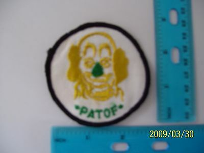 2 X embroidered patch clown patof