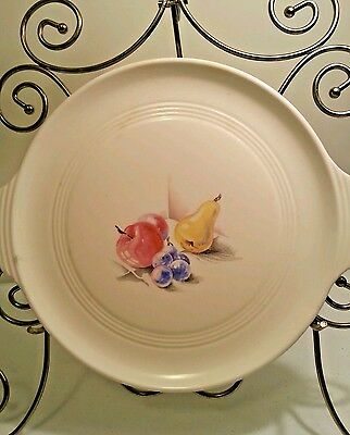 "Utility Ware Edwin Knowles 12"" Chop Plate Fruit Apples Pears Grapes Utilityware"