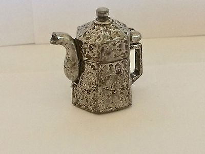 """A lovely polished English Pewter Thimble of a """"Coffee Pot"""""""