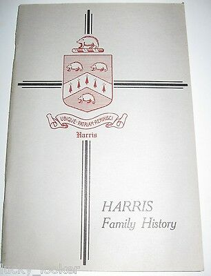 HARRIS FAMILY RECORDS - 1929 Book GENEALOGY Seaver BIRTHS DEATHS MARRIAGES