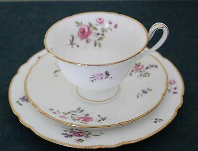 Shelley Rose Spray Pattern Trio in the Gainsborough Shape, Vintage English China