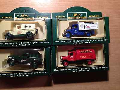Collection Of 4 Lledo Diecast Models Brooklands Series